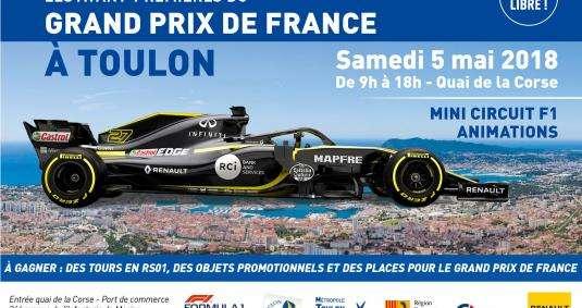 la Formule 1 débarque sur le port de Toulon